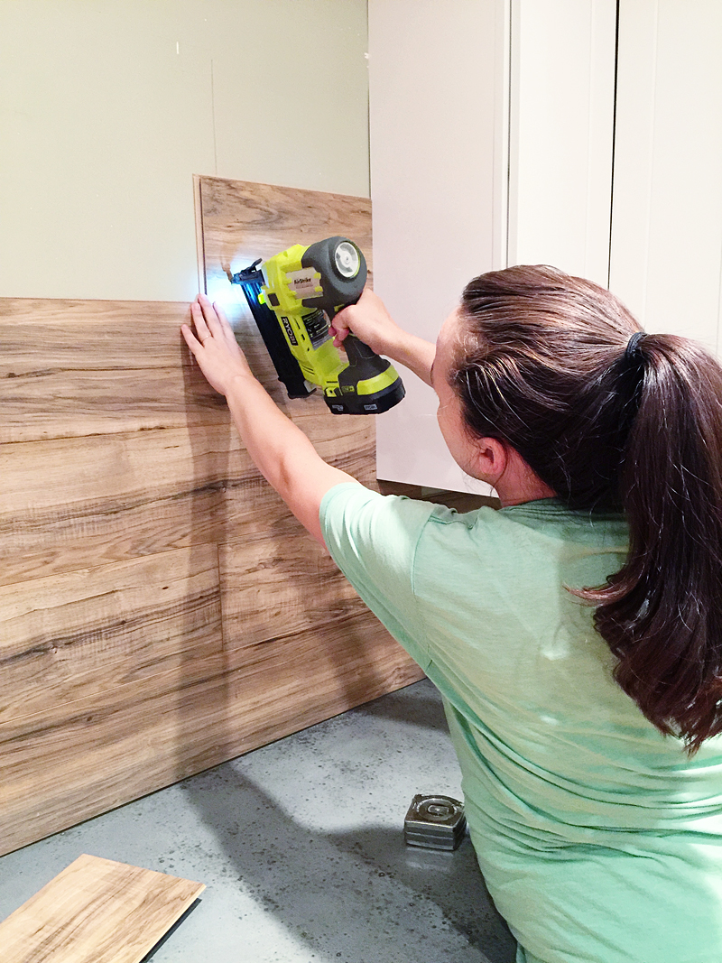 Laminate Flooring Backsplash (It looks like WOOD!) - Bower ...
