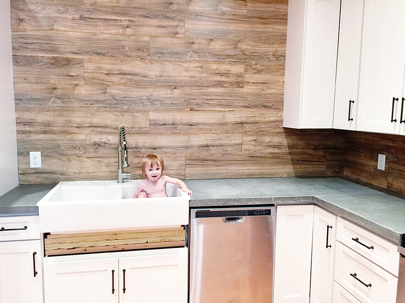 Can Kitchen Countertop Laminate Be Used As A Backsplash Too