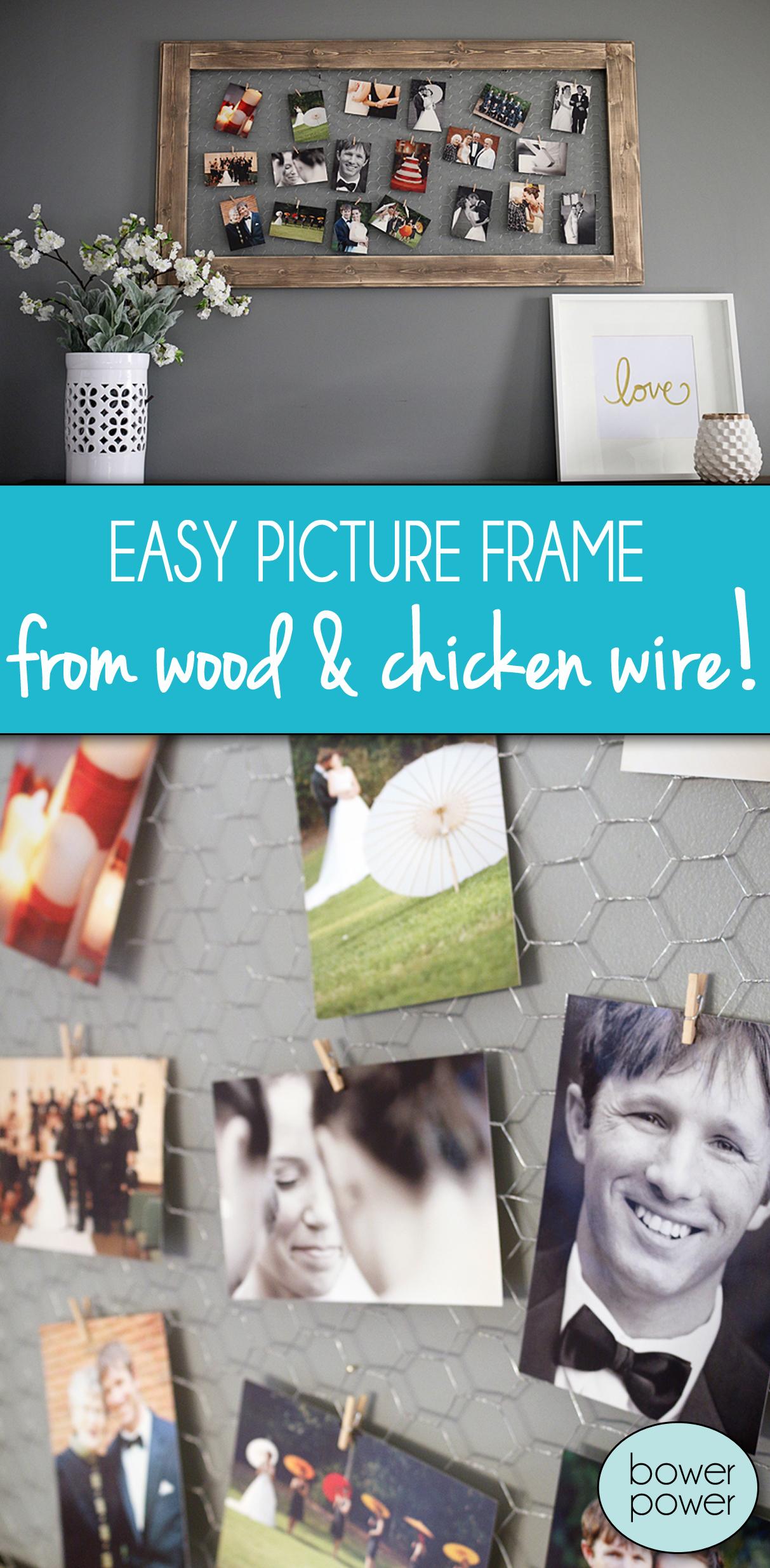 Chicken Wire Photo Frame - Bower Power