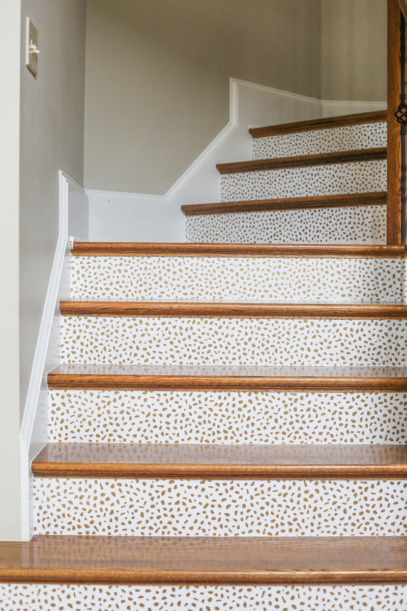 How To Wallpaper Stairs Bower Power