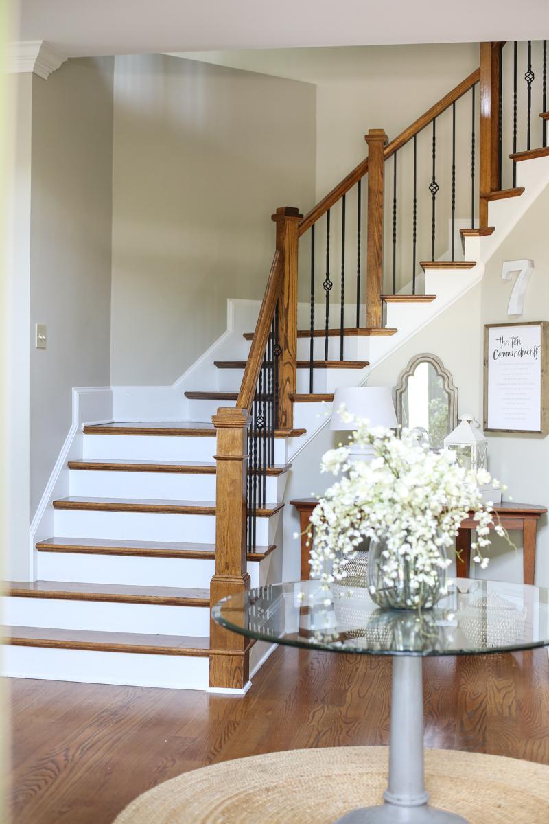 Wallpaper stairs DIY - Bower Power-3