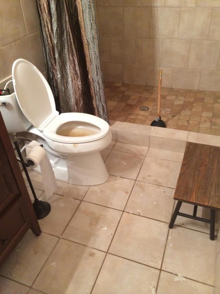 This is about to get nasty... - Bower Power Mobile Home Cing Floor In Bathroom on