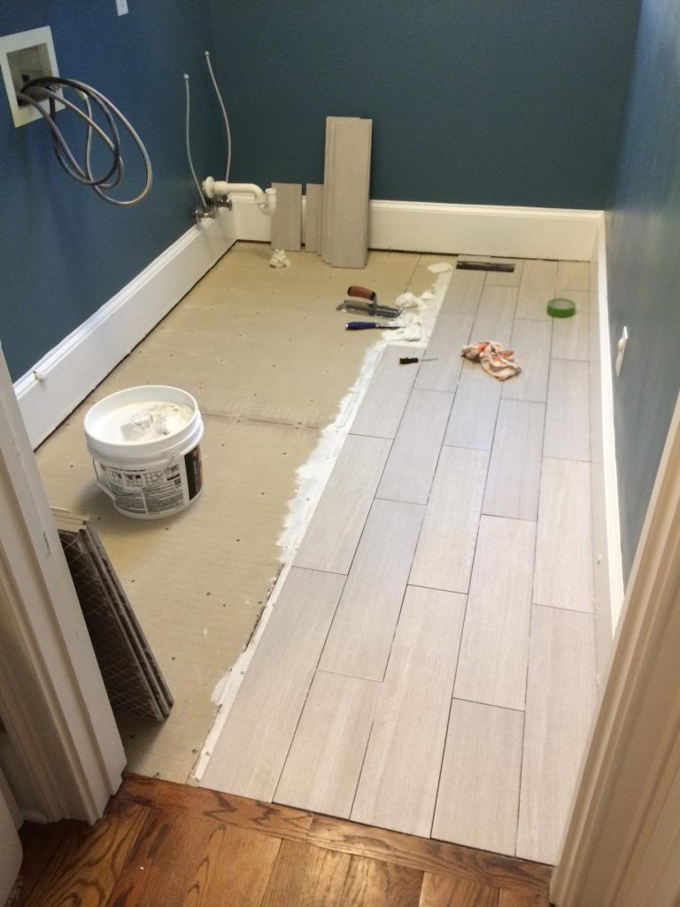 Tiling Our Laundry Room Floor - Bower Power