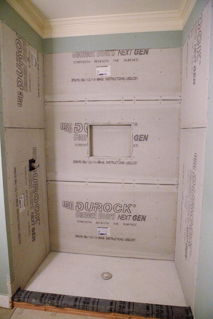 Hardibacker For Shower - Image Cabinets and Shower Mandra-Tavern.Com