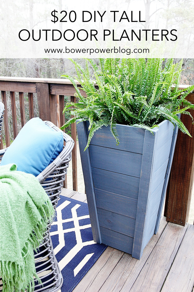 Tall Outdoor Planter How to build your own tall outdoor planter boxes bower power now who is ready to see more patio i gotta admit i am raising my own hand i am so excited to share it with you and if this rainy weather would workwithnaturefo