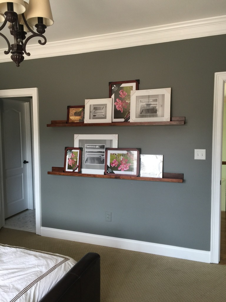 How To Build Pottery Barn Style Photo Shelves - Bower Power