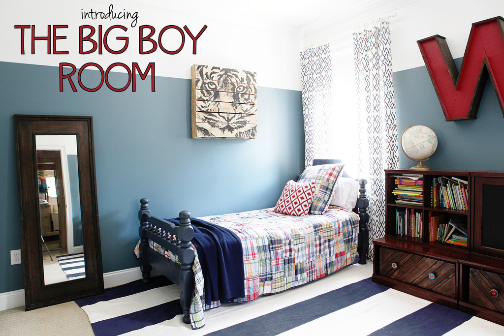 The big boy room reveal bower power for Big boy bedroom ideas