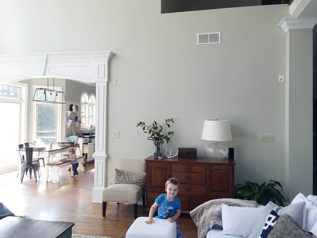 Foyer Living Room Furniture Poses : The power of paint living room before afters bower
