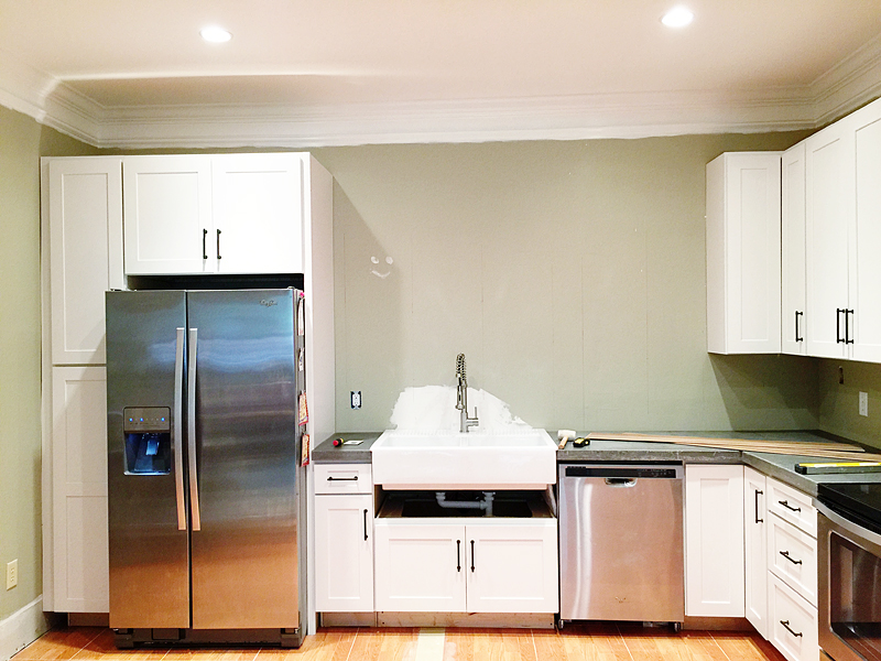 How To Tile On Drywall Behind Kitchen Sink
