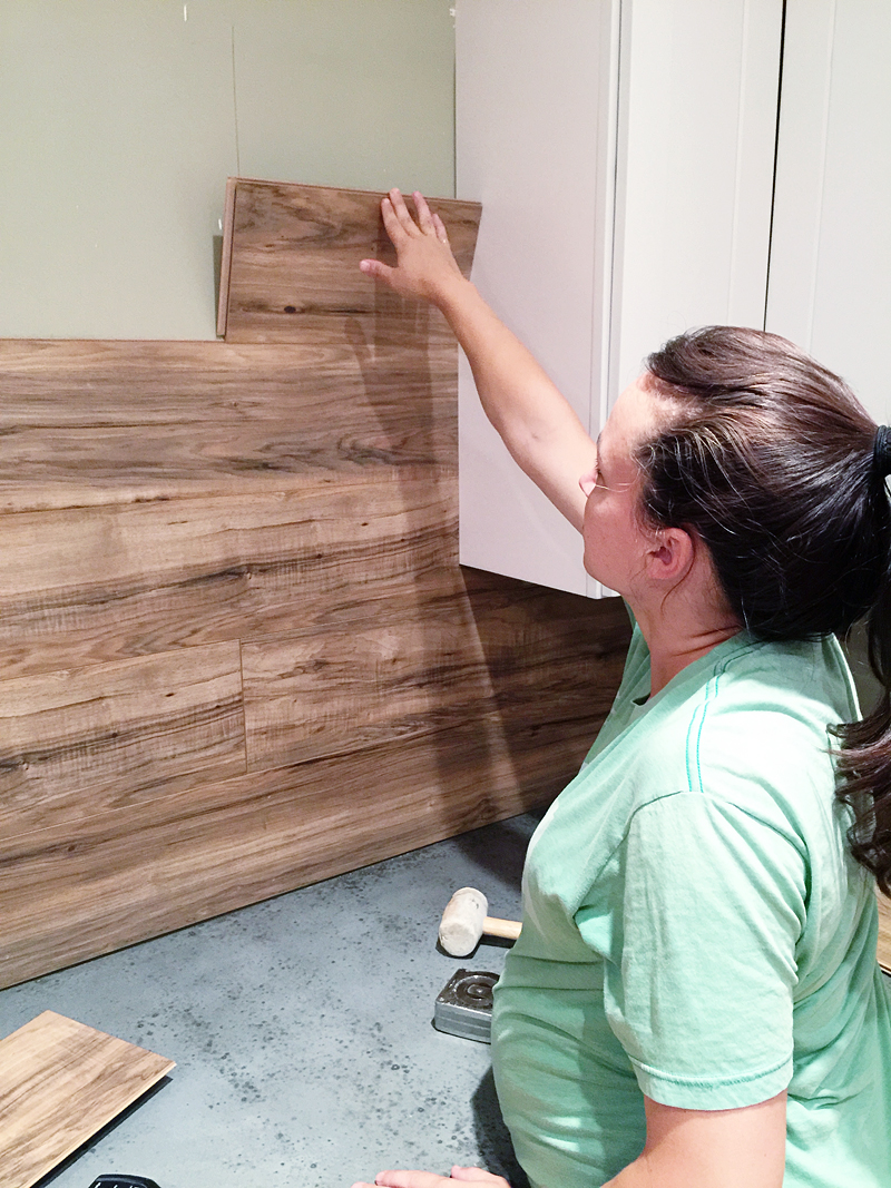 Laminate Flooring Backsplash It Looks Like WOOD Bower