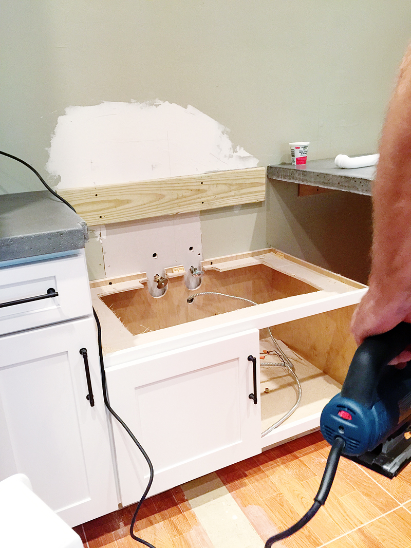Retrofitting A Cabinet For A Farm House Sink Bower Power