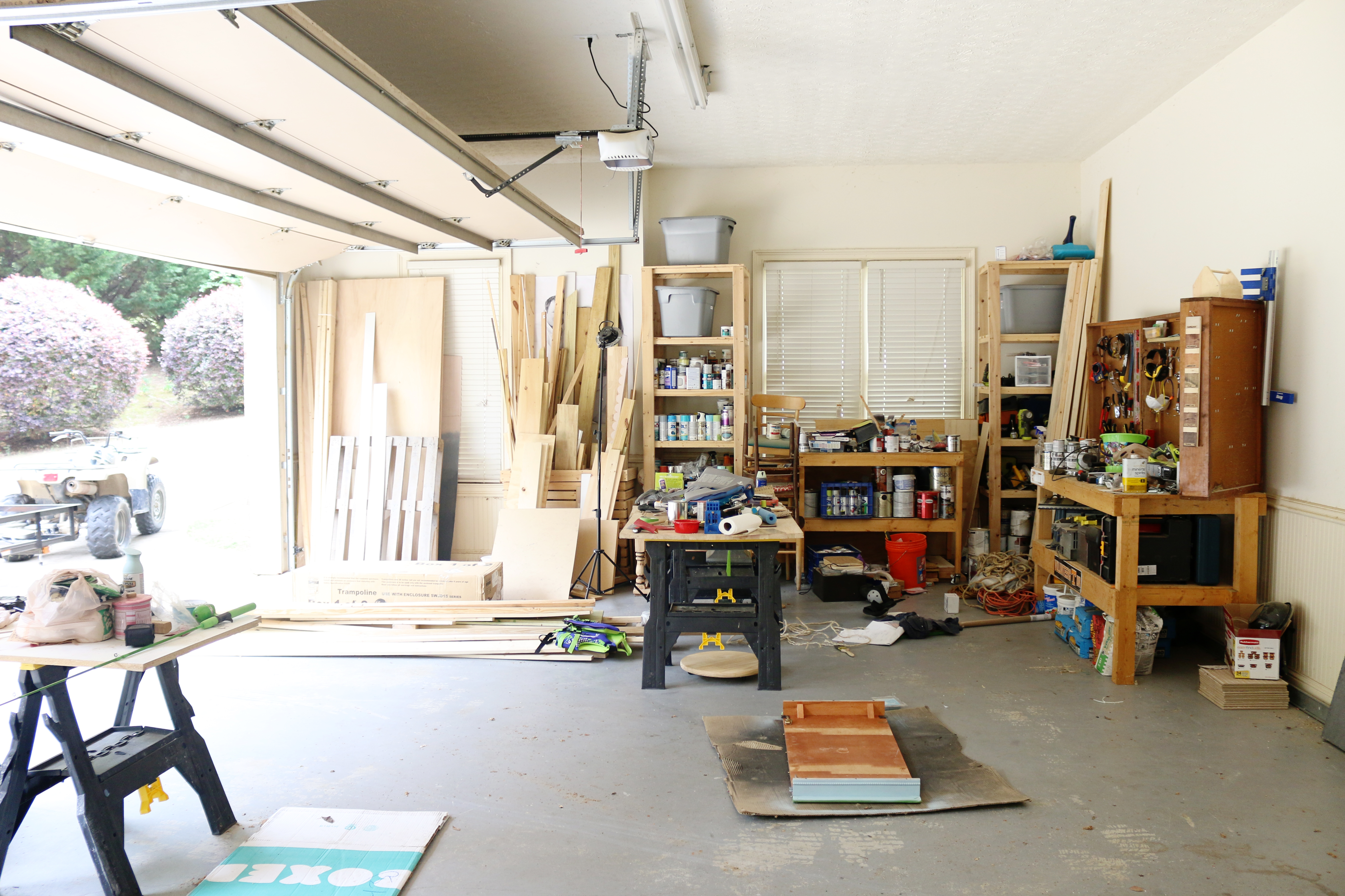 Garage workshop gym the reveal bower power