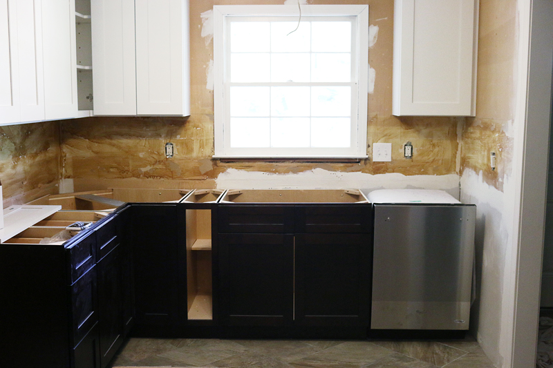 Pedraza brown and white cabinets - Bower Power
