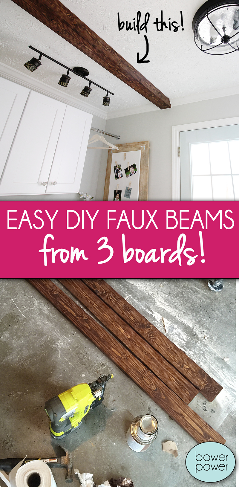 How To Diy A Faux Wooden Ceiling Beam Bower Power
