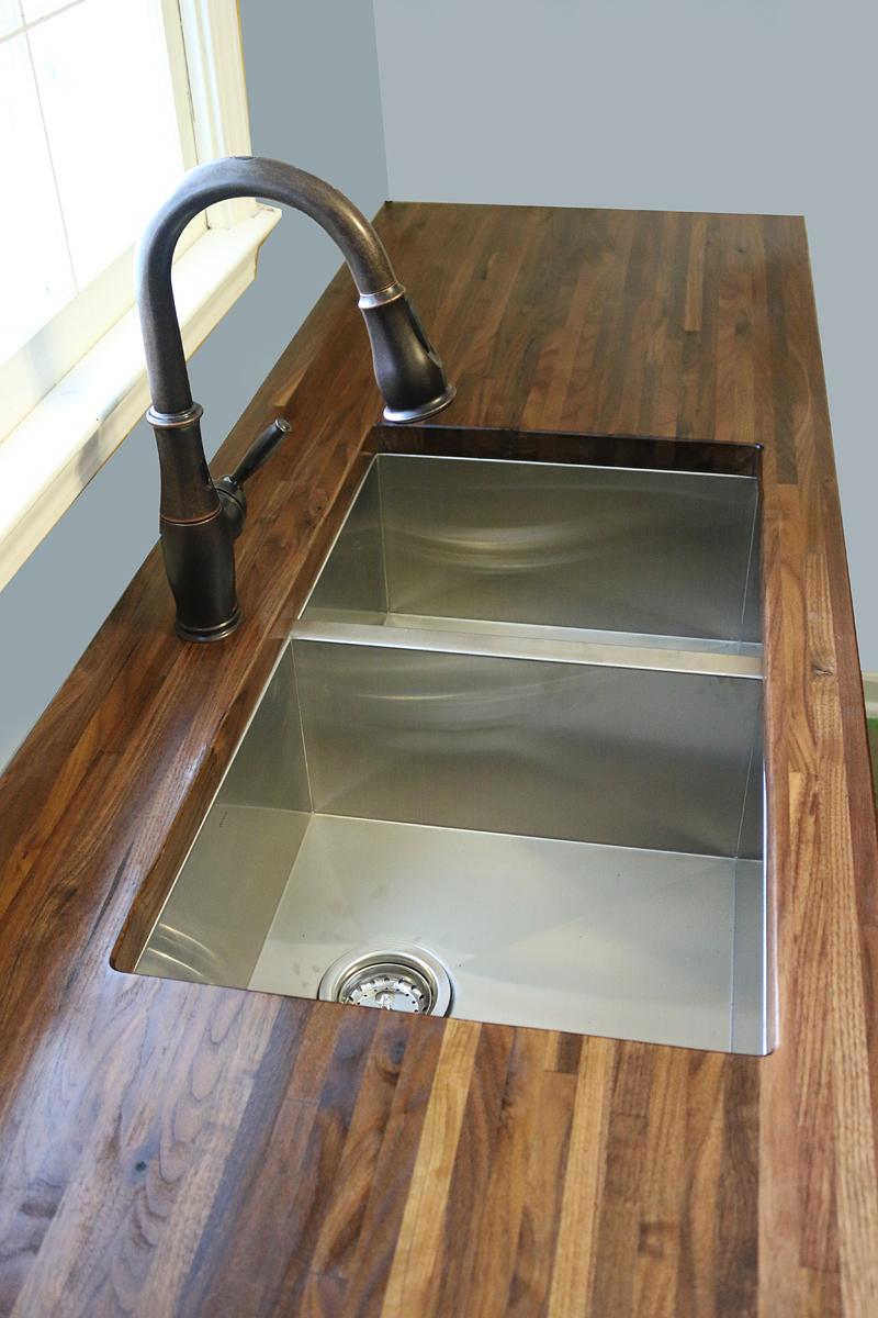 How to cut seal install butcherblock countertops with for Installing butcher block countertops