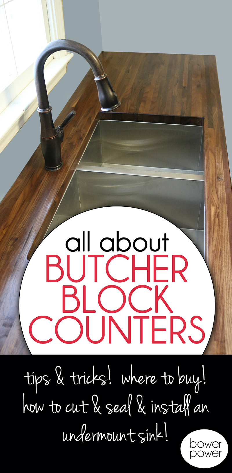 How to Cut Seal Install Butcherblock Countertops with an