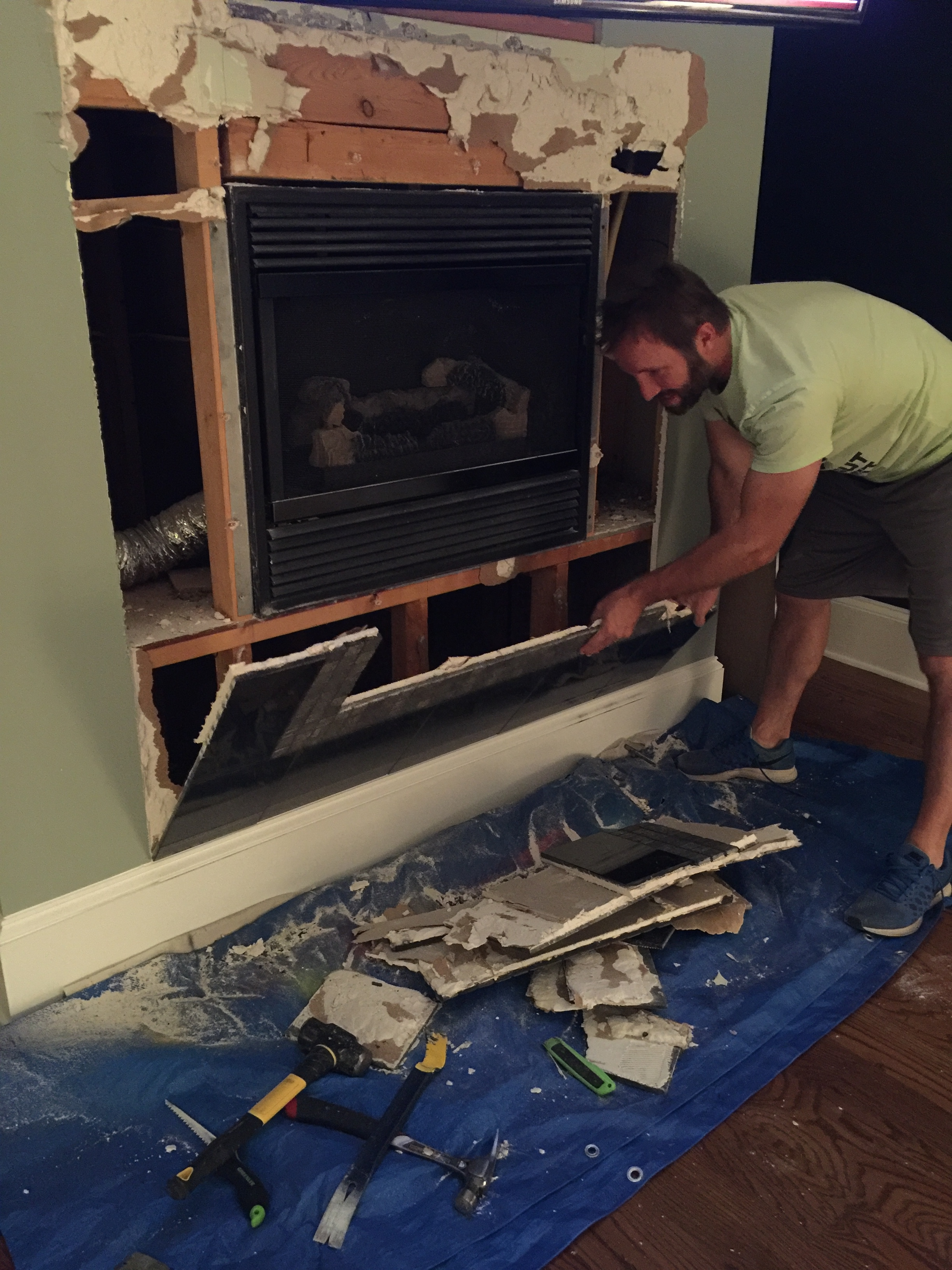 Fireplace Makeover - Bower Power