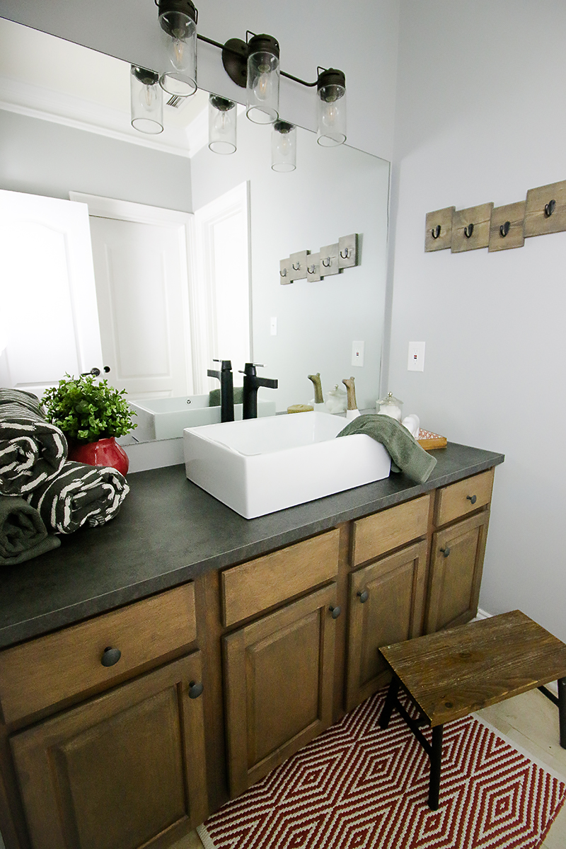 Kids Bathroom Sink Makeover Bower Power - How to redo my bathroom