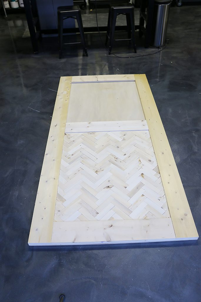 DIY Herringbone Barn Door