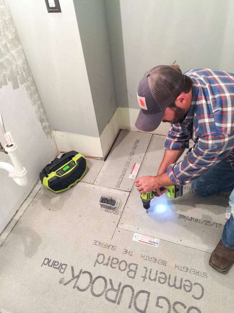First Floor Bathroom Tile Curve Bower Power-12