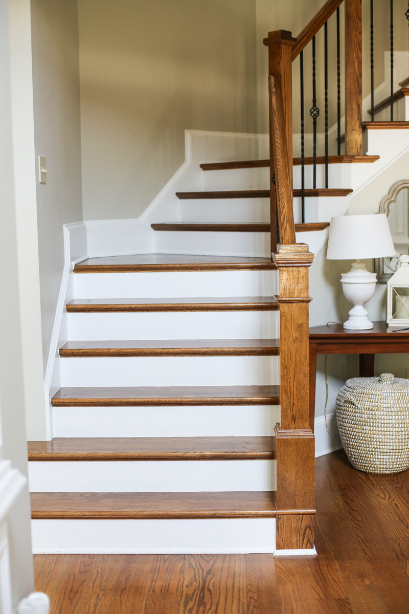 Wallpaper stairs DIY Bower Power 2