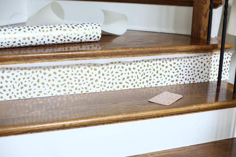 Wallpaper stairs DIY Bower Power 5