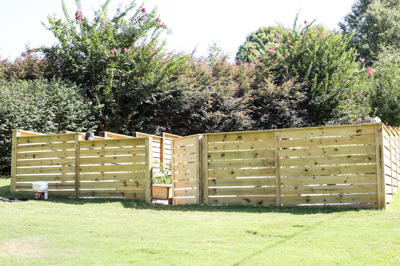 how to build horizontal modern wood fence - Bower Power-23