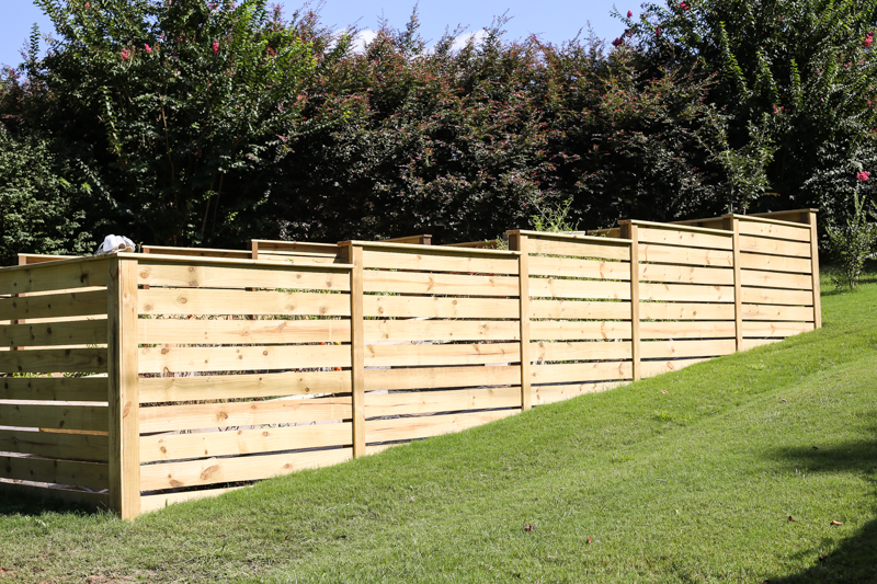 how to build horizontal modern wood fence - Bower Power-24