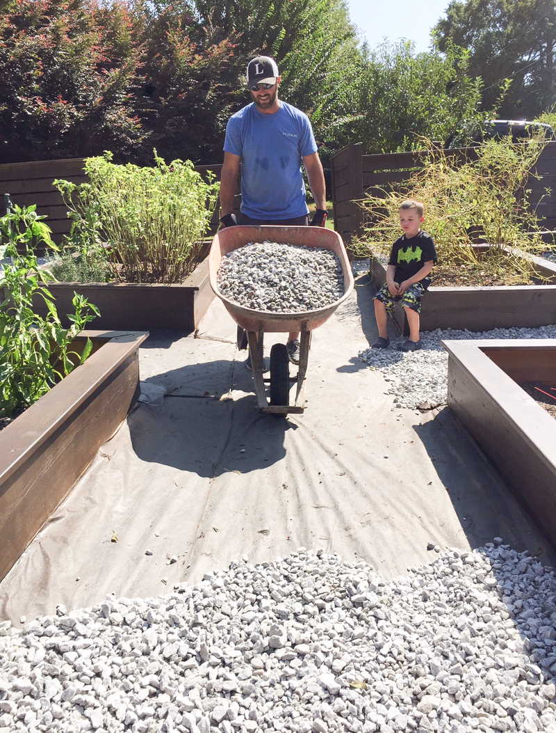 Staining Concrete Pavers Garden Update - Bower Power-56
