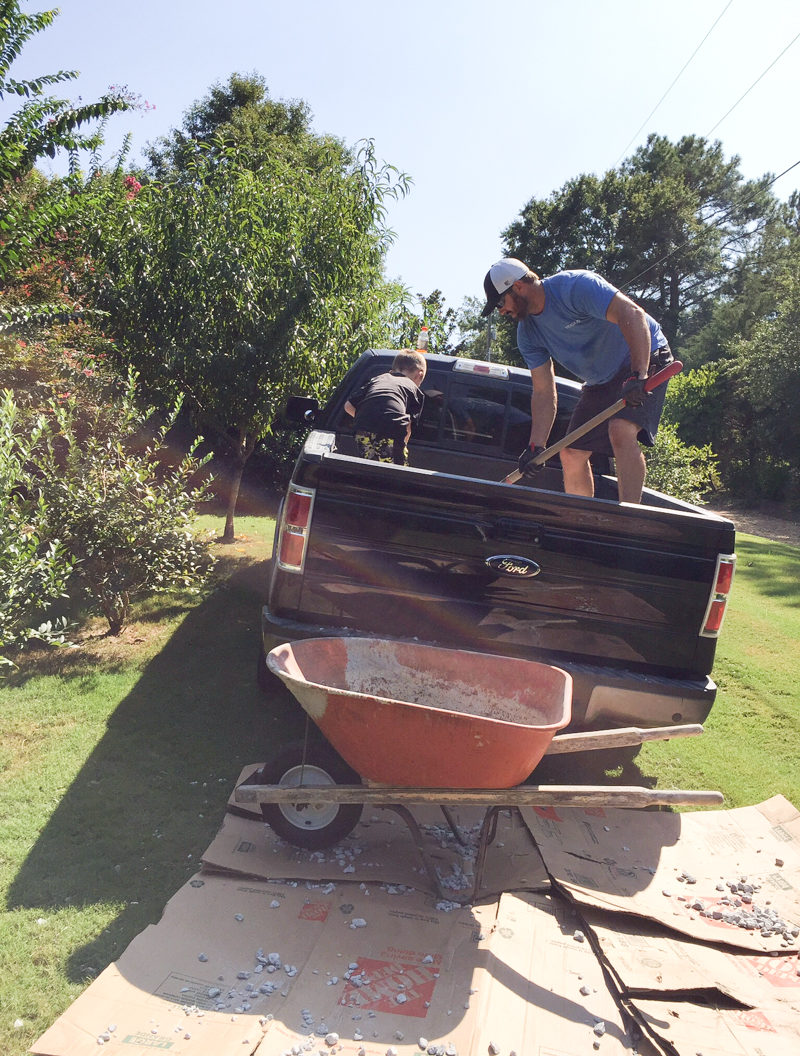 Staining Concrete Pavers Garden Update - Bower Power-58