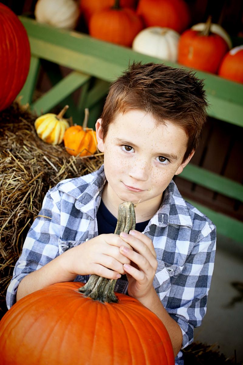 Family Fall Photos Pumpkins - Bower Power-3