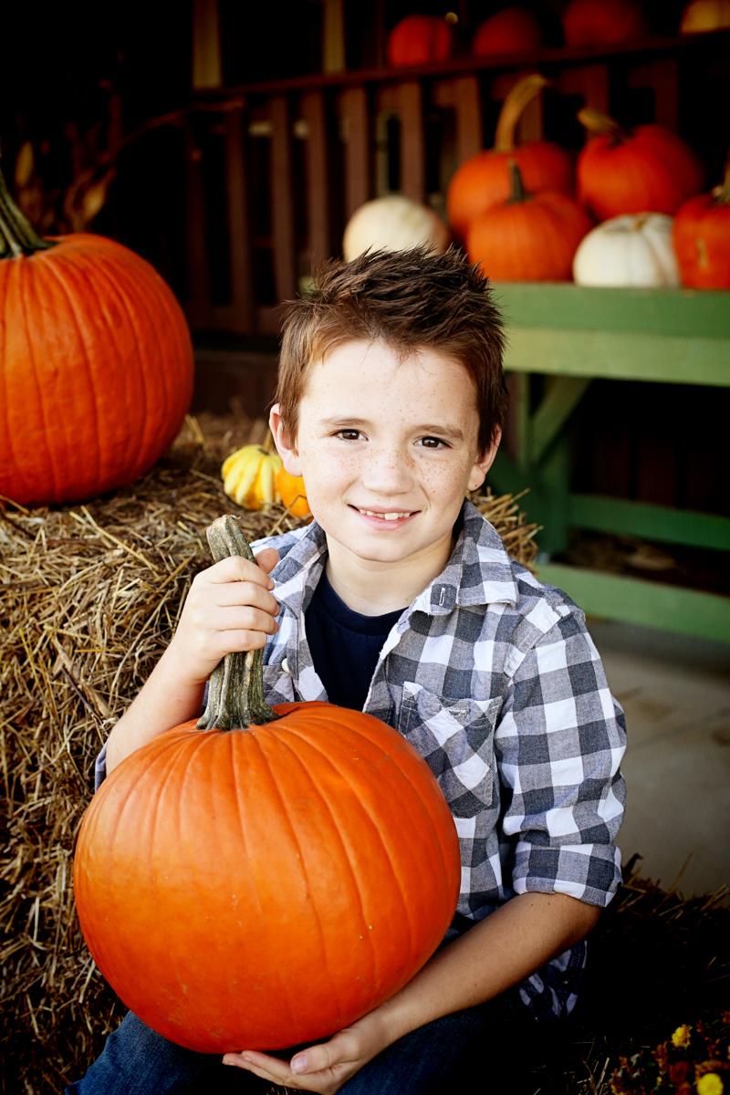 Family Fall Photos Pumpkins - Bower Power-4