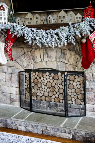 Faux Stacked Wood Fireplace Insert DIY