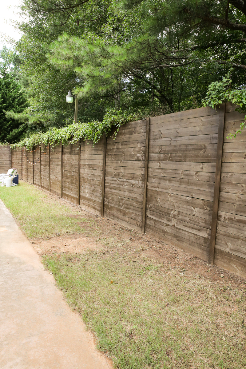 how to build a wood fence on a chainlink fence bower power. Black Bedroom Furniture Sets. Home Design Ideas