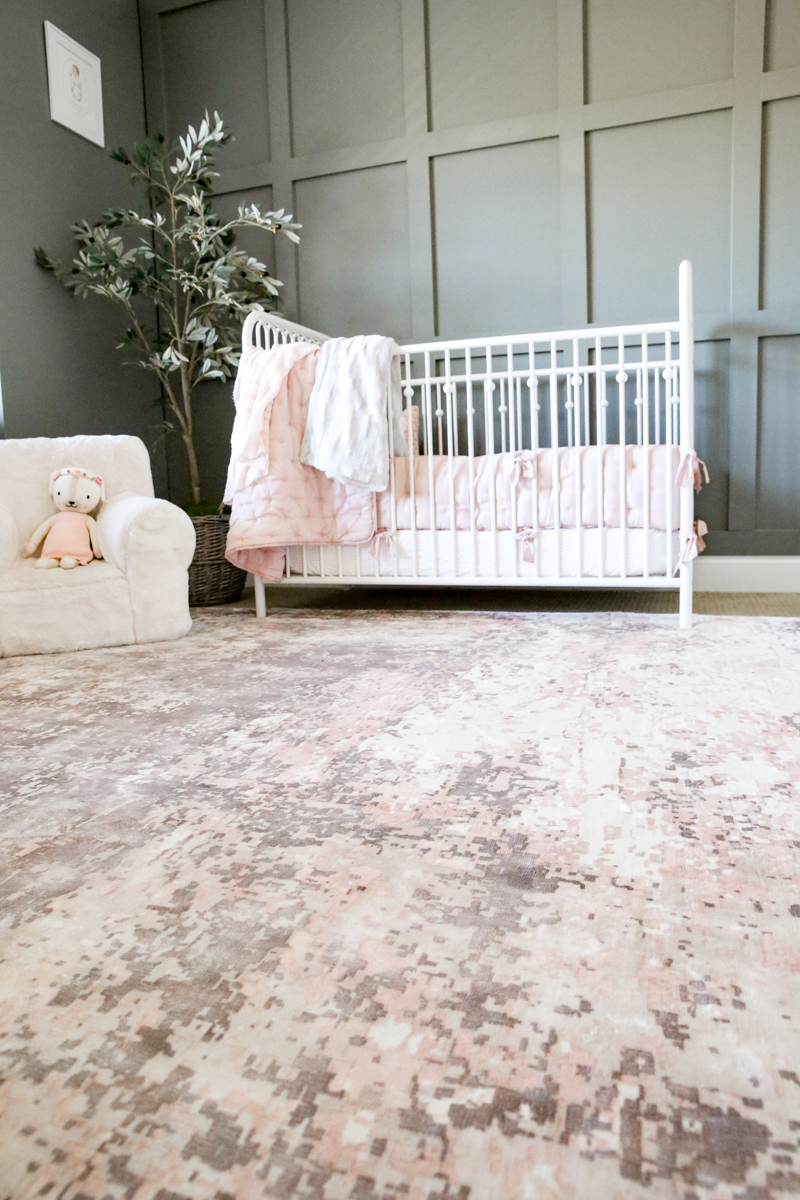 Girls Nursery Rug & Dresser - Bower Power