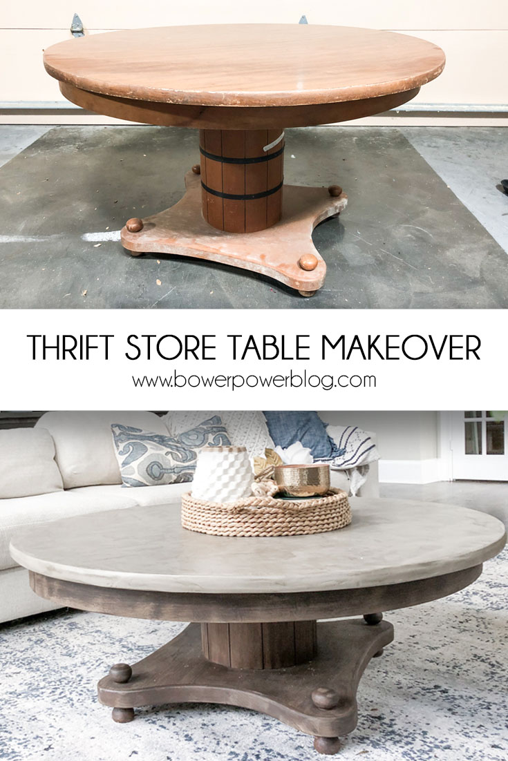 Amazing Concrete Coffee Table Makeover Bower Power Camellatalisay Diy Chair Ideas Camellatalisaycom