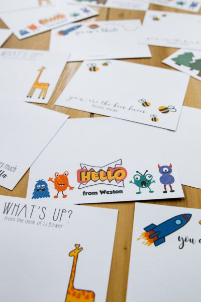 Personalized Kids Stationery Cards